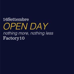 Factory10: Open Day e presentazione nuova stagione corsi